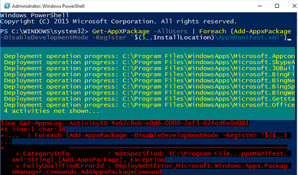 Power Shell Command Window